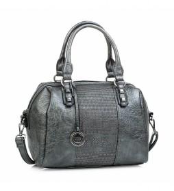 Bolso con bandolera 94731 gris -22x31x19cm-
