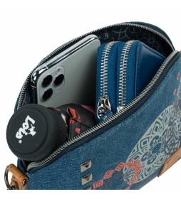 Bolso Bandolera 310579 azul -22x15x5,5cm-