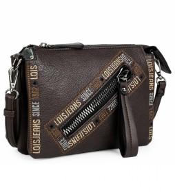 Bolso pequeño bandolera 304715 -23x17x5cm- marrón