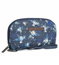 Cartera Monedero Estampado Floral 304308 azul -13x21x1cm-