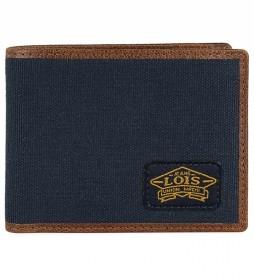 Cartera monedero 203801 azul marino -10,5x8,5x1,5 cm-
