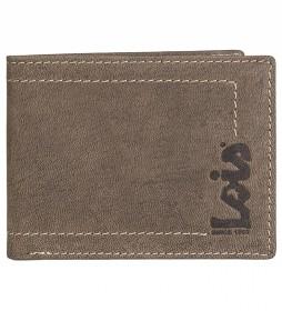 Cartera monedero de piel 201508 marrón -11x8,5 cm-