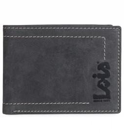 Cartera monedero de piel 201508 negro -11x8,5 cm-