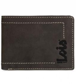 Cartera monedero de piel 201501 marrón oscuro -11,5x9 cm-