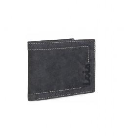 Cartera monedero de piel 201501 negro -11,5x9 cm-