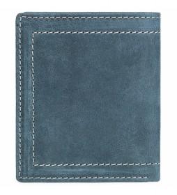 Cartera monedero de piel  201520 azul -9x11 cm-