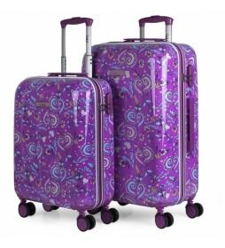 Juego de 2 maletas Nicosia 130200 lila - 44x67x24cm -
