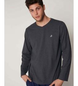 Camiseta pijama Jeans gris