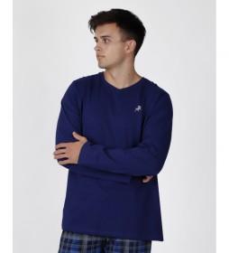 Camiseta pijama Jeans marino