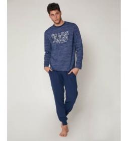Pijama Live Fast azul