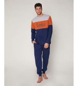 Pijama The Best azul, naranja