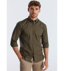 Camisa Popelin  verde