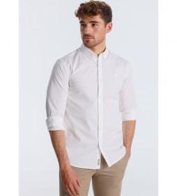 Camisa Popelin  blanco