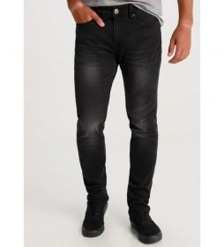 Jeans Marvin Slim Premium-Tokyo Denim negro
