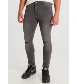 Pantalón jeans  Money-Tokio gris denim