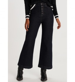 Pantalones Belice-Toron Denim Raw negro