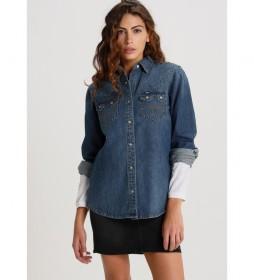Camisa Brink-Dukesa azul denim medio