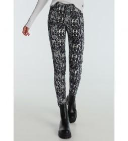 Pantalón Coty Tob-Doral  Snake Print  blanco, negro, azul