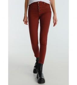 Pantalón Lua Ankle  rojo