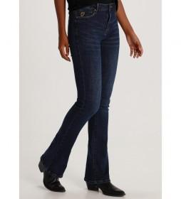 Pantalón jeans Boot-Pompeya azul oscuro denim