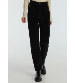 Pantalón pana Luzia-Barbol negro