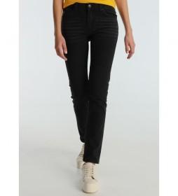 Pantalón jeans Seven-Braja negro denim