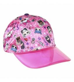 Gorra Premium Estampado Lol rosa