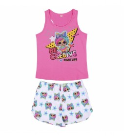 Pijama Corto Tirantes Single Jersey Lol rosa