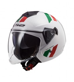 LS2 Helmets Casco Jet Twister II OF573 Plane White Green Red