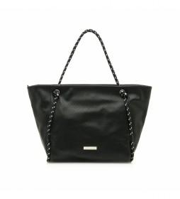 Bolso Shopper Malva negro -30x30x12cm-