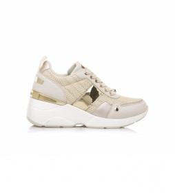 Zapatillas 68033 beige -Altura cuña: 6,5 cm-