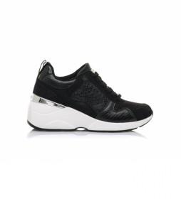 Zapatillas 68034 negro -Altura cuña: 6,5 cm-