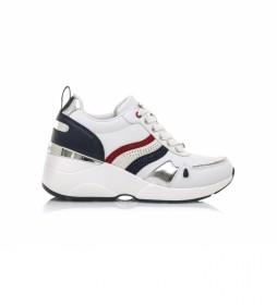 Zapatillas 68187 blanco -Altura cuña: 6,5 cm-