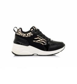 Zapatillas 63020 negro -Altura cuña: 6,50cm-