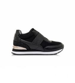 Zapatillas 63051 negro -Altura cuña: 5cm-