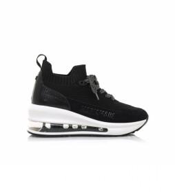 Zapatillas 63152 negro -Altura cuña: 5,70cm-