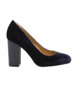 Zapatos Velvet marino -Altura tacón: 9.5 cm-