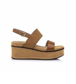 Sandalias 67692 marrón -Altura cuña: 7,5 cm-