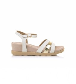 Sandalias 67755 blanco -Altura cuña: 5 cm-