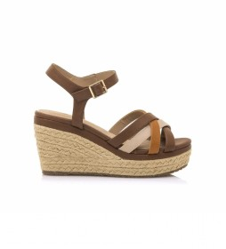 Sandalias 67786 marrón -Altura cuña: 9 cm-
