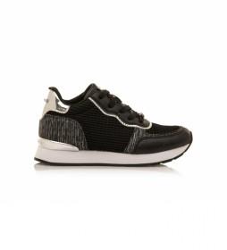 Zapatillas 68021 negro -Altura cuña: 5 cm-