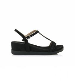 Sandalias 67695 negro -Altura de la cuña: 5cm-