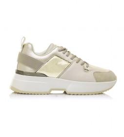 Zapatillas 67615 oro -altura cuña: 5cm-