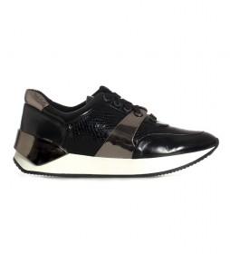 Zapatillas Lamina negro, animal print