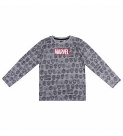 Camiseta Marvel gris
