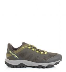 Merrell Trilha Corrida Sapatos Fiery Gore - Green Tex / 650g