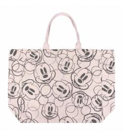 Bolso Asas Algodón Mickey beige -48x44x17cm-
