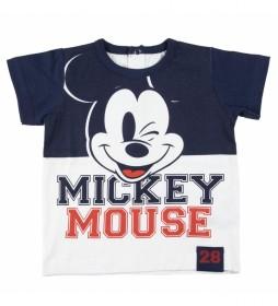 Camiseta Corta Single Jersey Mickey azul marino