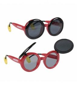 Gafas de Sol Blister Aplicaciones Mickey rojo