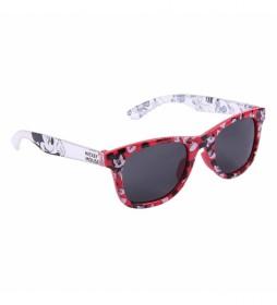 Gafas de Sol Estampado Mickey rojo
